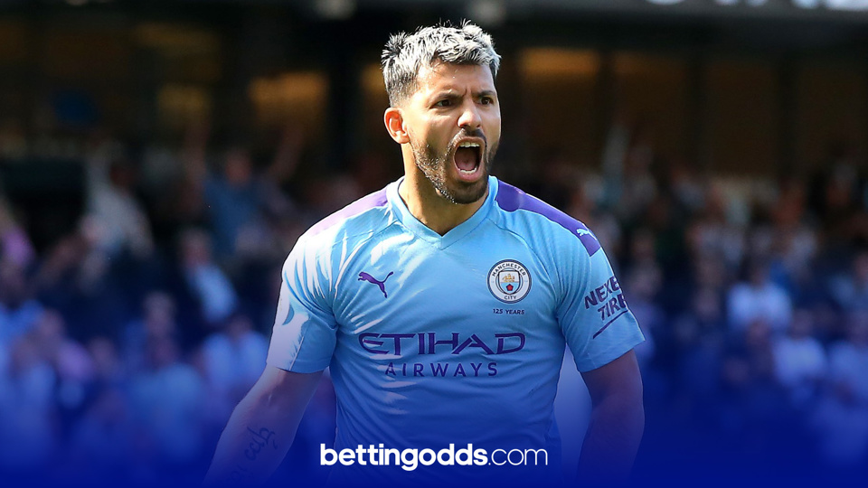Aguero has 16 league goals this season and we fancy him to bag another this evening
