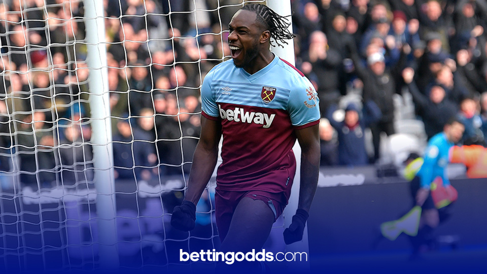 Michail Antonio features in our 90/1 longshot
