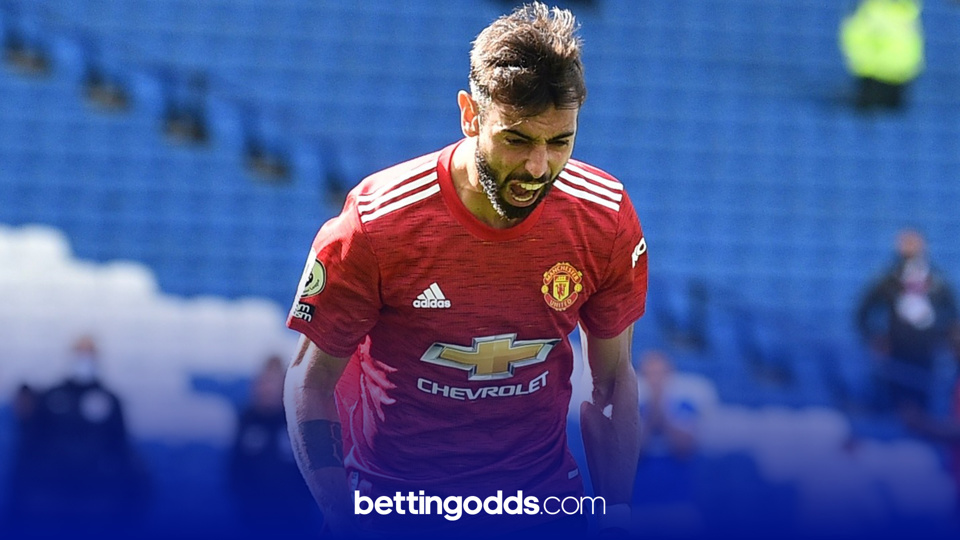 Bruno Fernandes has scored more seven more goals than any other Manchester United player this season in the league and features in our 13/2 bet for Sunday
