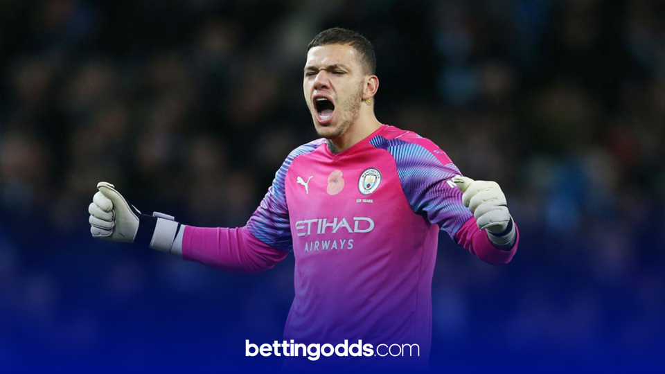 Ederson is currently the same price to score on Saturday as Gareth Bale with bookmaker bet365