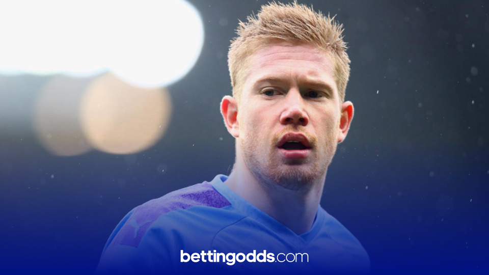 Kevin De Bruyne has has the highest shots on target average of any City player to play more than three games this season and features in our football tips for the game against Marseille