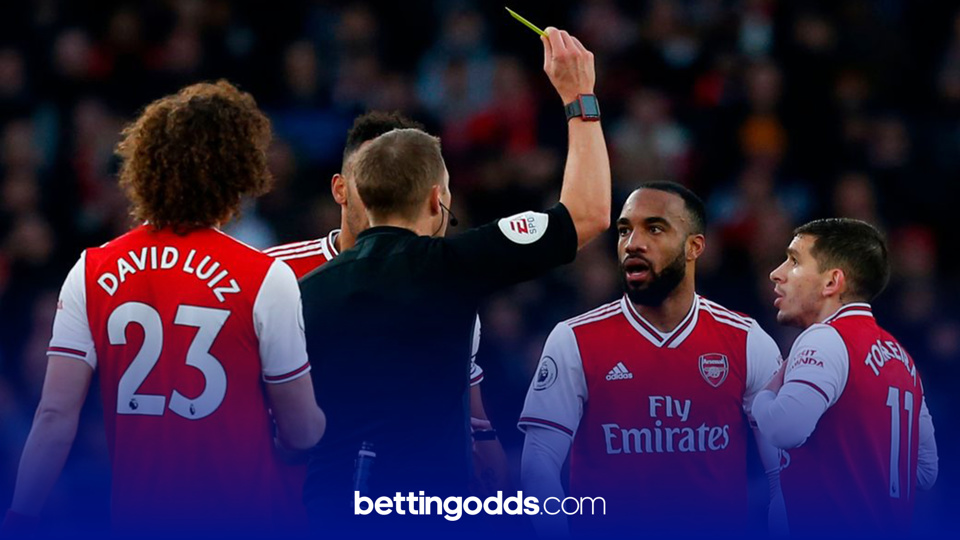 Lacazette has been booked eight times in the Premier League this season