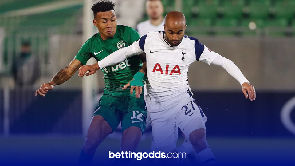 Lucas Moura has scored on five of his 12 starts this season for Spurs and features in our tips for the game against Marine